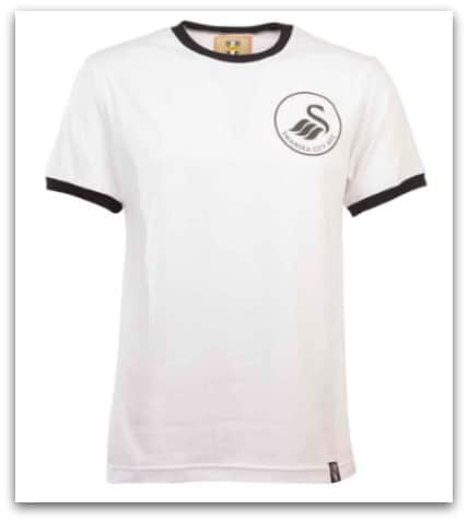 SWANSEA 12TH MANT-SHIRT - WHITE:BLACK RINGER