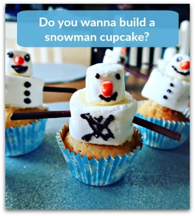 Do you wanna build a Snowman Cupcake?