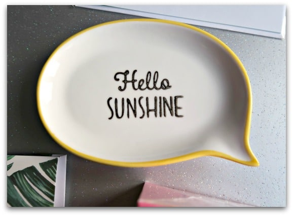 Hello sunshine trinket dish from Sasse & Belle
