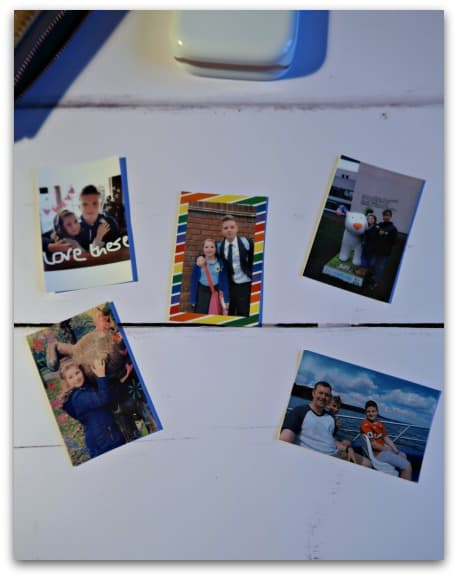 My collection of photos printed with the HP Sprocket