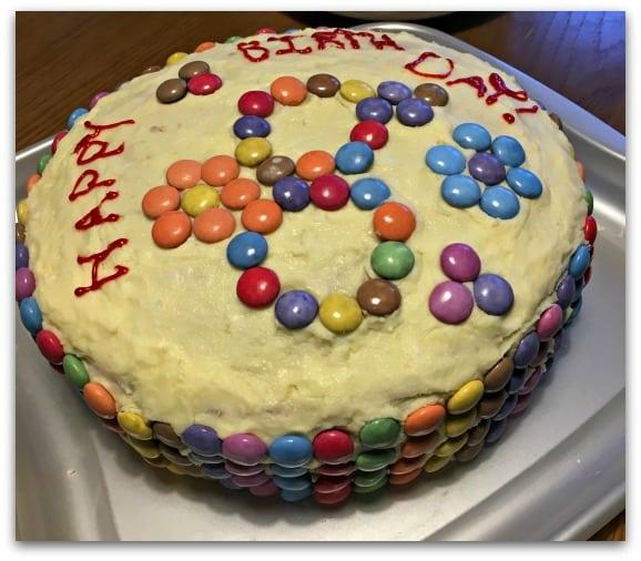 the home made birthday cake