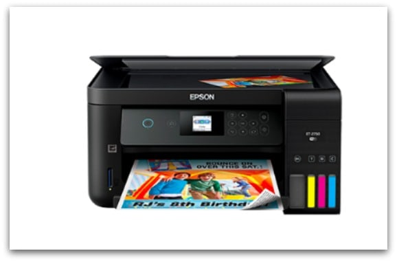 The Epson EcoTank ET-2750 prints quickly and quietly and the print quality is amazing