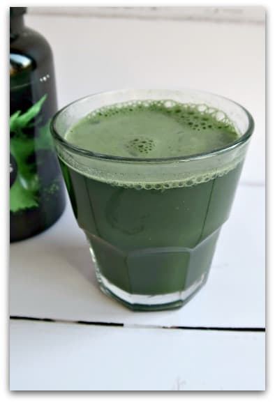 Lean Greens Super Greens Powder is just added to water to make a nutritious healthy drink