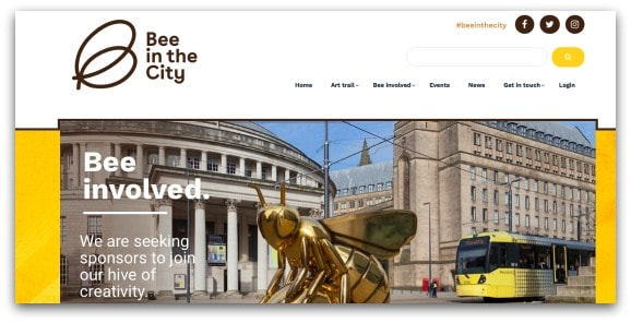 Bee in the City Sculpture Trail in Manchester 2018