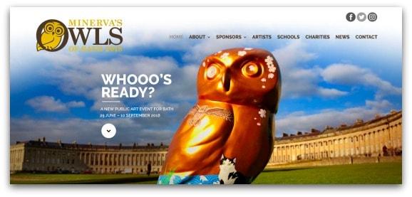 Minerva's Owls of Bath 2018 Sculpture Trail