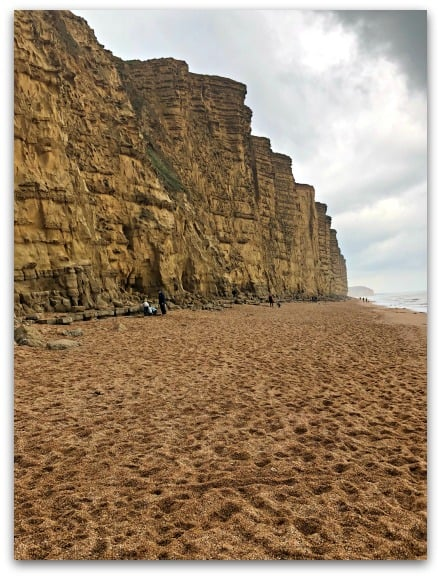 The Cliffs of West Bay famous from the ITV series Broadchurch