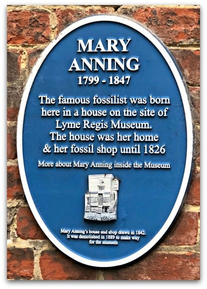 The Lyme Regis Museum is situated on the site of Mary Anning's house