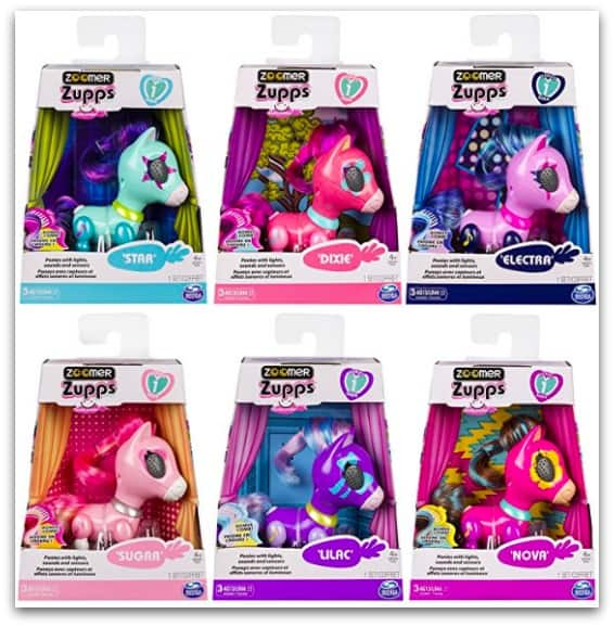 There are six Zoomer Zupps Pretty Ponies to collect all with their own personalities