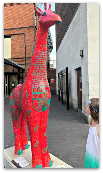 Discovering a bit of history during our Worcester Stands Tall sculpture trail