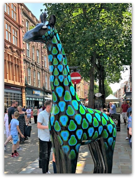 Most of the Worcester Stands Tall sculptures are in and around Worcester city centre