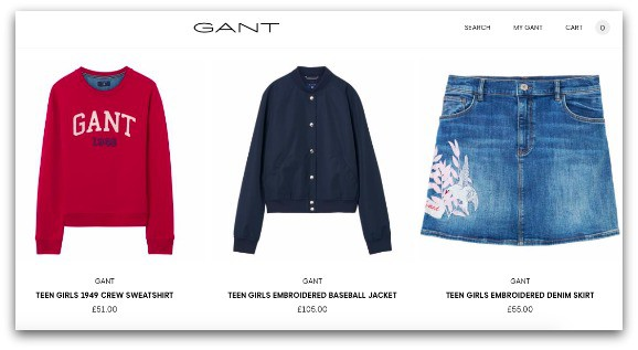Teen collection from Gant