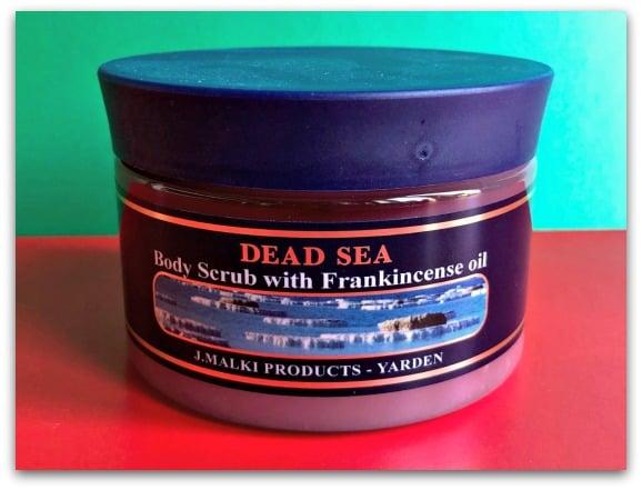 The Malki Dead Sea body scrub with frankincense oil