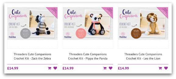 Threaders Cute Companions Crochet Kits from Crafter's Companion
