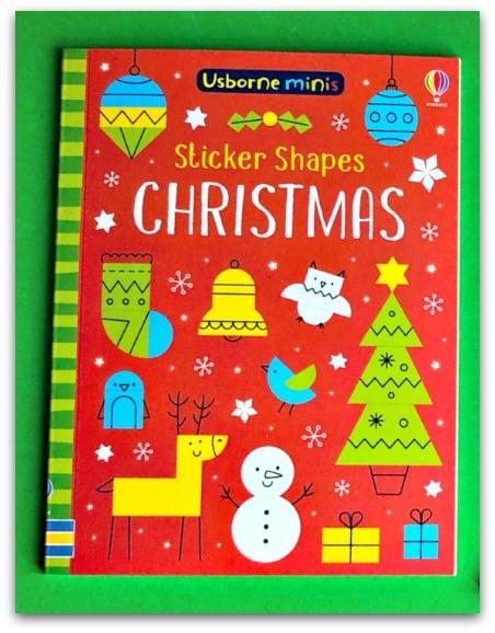 Usborne Minis Sticker Shapes Christmas